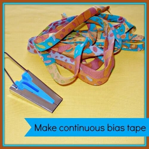 How to Make Continuous Bias Tape - Sewing Tutorial