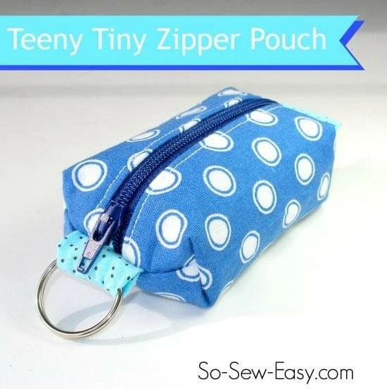 Mini Zipper Pouch Key Fob - Sewing Tutorial