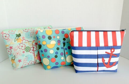 Make 3 Makeup Bags from 1 Yard of Custom Printed Fabric