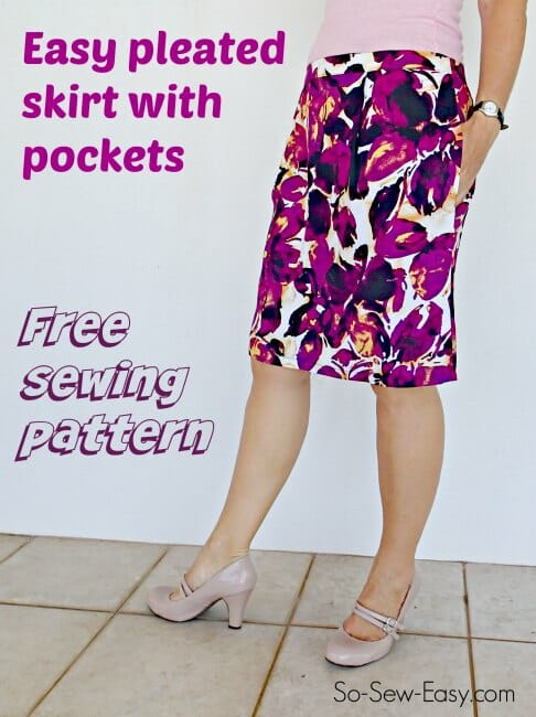 Simple Pleated Skirt - Free Sewing Pattern