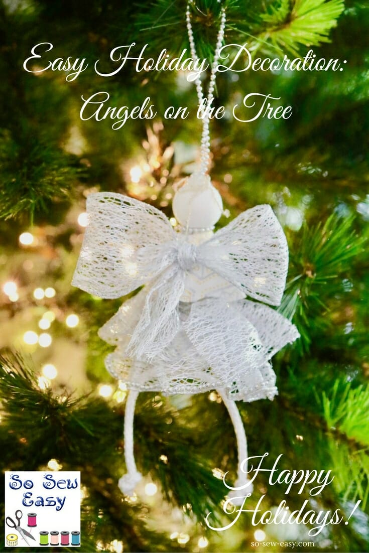 Angel Christmas Tree Ornaments - DIY Tutorial