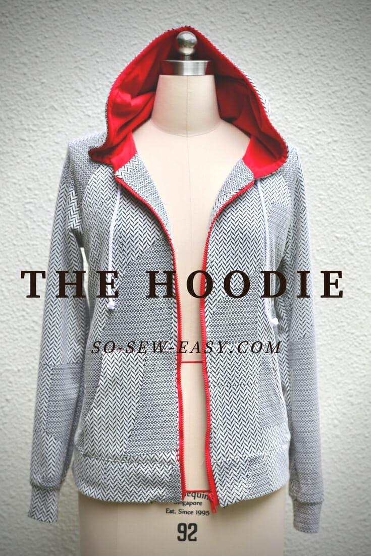 Free sewing pattern: Women's hoodie