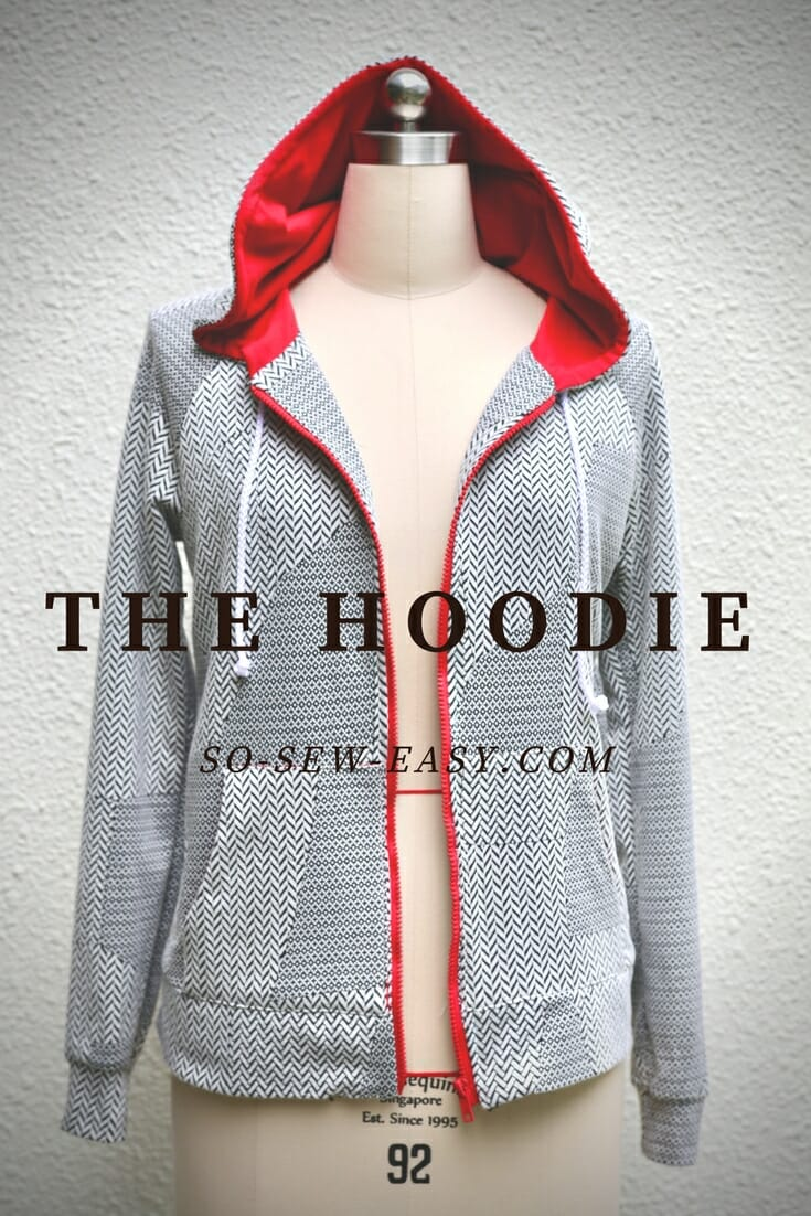 Free sewing pattern: Women's hoodie
