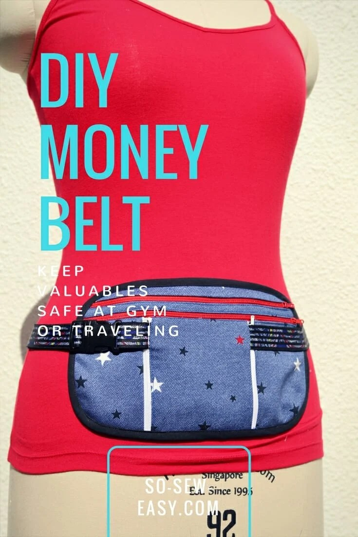 DIY Money Belt FREE Pattern and Tutorial