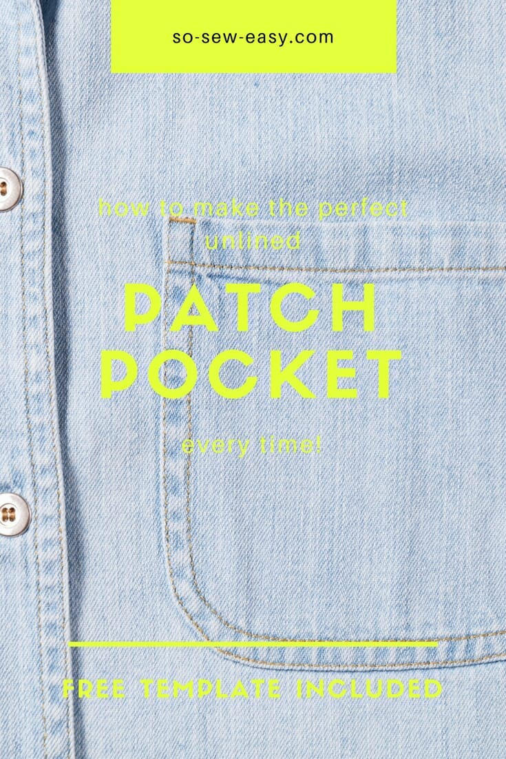 Free pattern: Sew a perfect unlined patch pocket