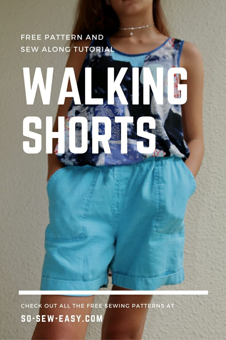 Free sewing pattern: Walking shorts