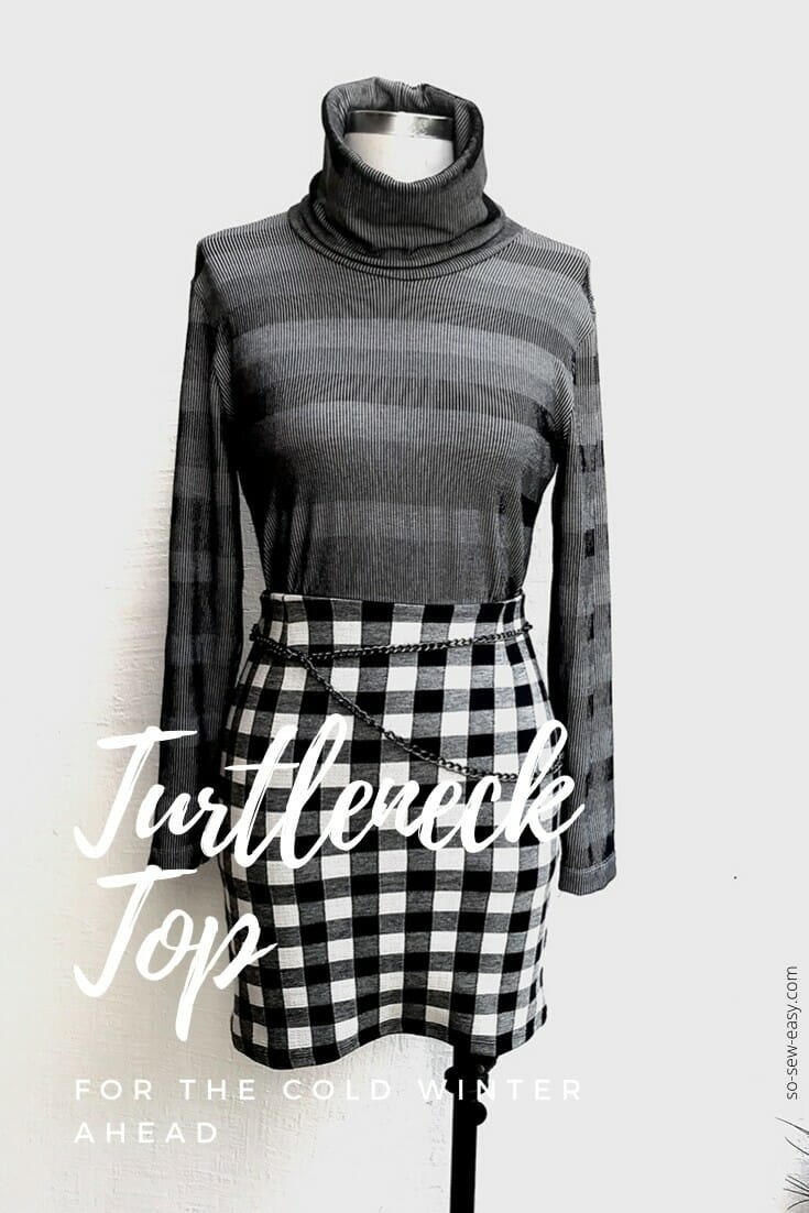 Free sewing pattern: Womens turtleneck top