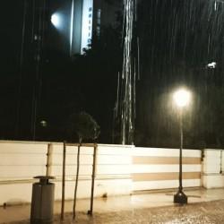 Gewitter, Regen, Adria, Riccione, Nachtaufnahme