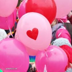 Ballon, pink, Herz
