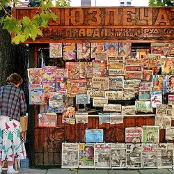 Kiosk, Zeitung, Ukraine, Krim, Rußland