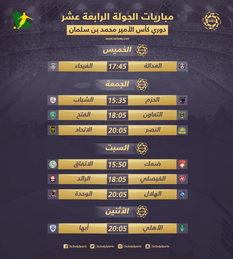 دوري المحترفين مباريات الجولة 14 كلاسيكو النصر والاتحاد والوحدة يهدد حلم الهلال سعودى سبورت