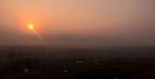 Morgenröte kurz vorm Sonnenaufgang