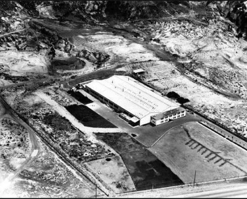 Fotografía de 1964 de la fábrica de soldaduras West Arco.