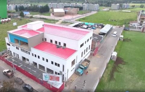En un 85% avanzas las obras del Centro Médico de Sibaté.