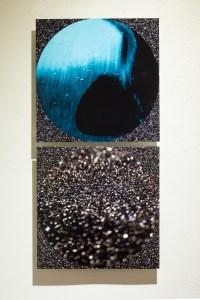 ECHO: Sonata Blue 2-panel metal print 12x24