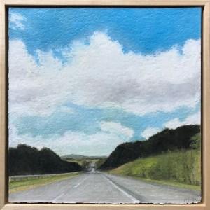 16. Diane Newton Toward New York  Oil pastel 12x12