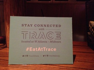 TRACE at the W Hotel in Midtown- Atlanta