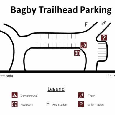 Bagby Hot Springs Parking Map
