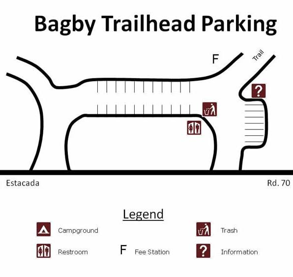 Bagby Hot Springs Parking Map