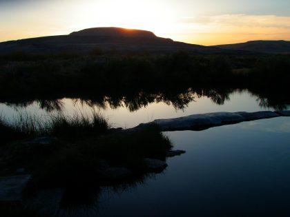 Willow Creek Hot Springs Sunset