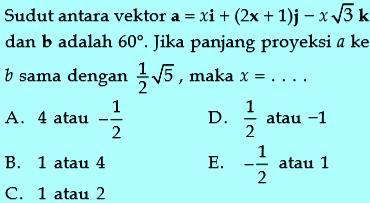 Contoh soal proyeksi vektor