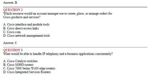 CCNA Exam 646-361 – Foundation Express for Account Managers (FOUNDAM)