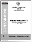 Cover soal ujian nasional smk matematika 2005