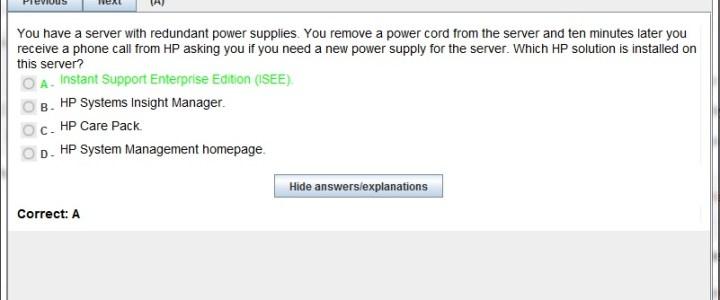 HP Exam HP0-683 Interactive Testing Engine