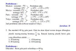 Soal dan Pembahasan Ujian Nasional Matematika SMP 2007