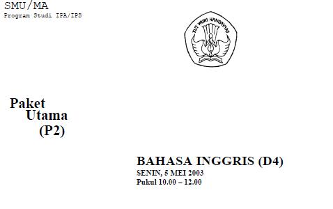 Soal Ujian Nasional / UAN SMU 2003