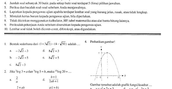 Soal Ujian Nasional SMA 2007