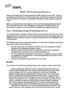 TOEFL iBT Writing Sample Responses