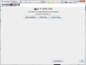 HP Exam HP0-704 Certification