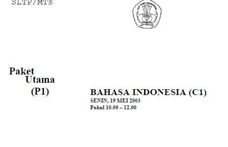 Soal Ujian Nasional UN SMP 2003