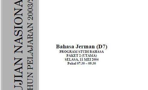 Kumpulan Soal Ujian Nasional UN SMA Bahasa 2004