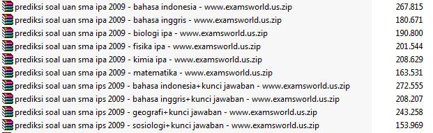 Prediksi Soal Ujian Nasional (UN) SMA IPA 2009