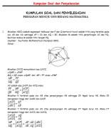Kumpulan Soal Matematika SMA dan Penyelesaiannya
