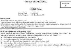 Soal Tryout Ujian Nasional SMA IPS