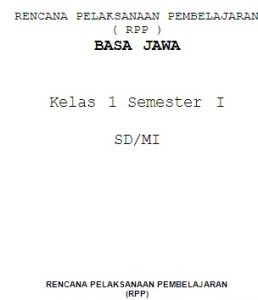RPP Bahasa Jawa SD