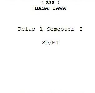 RPP Bahasa Jawa SD/MI Kelas 1-6