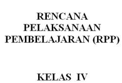 RPP IPS SD/MI Kelas 1-6