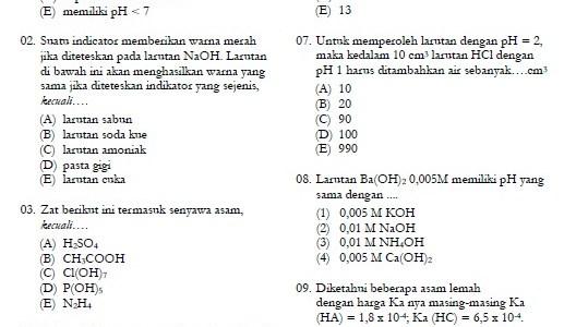 Kumpulan Soal Latihan Kimia SMA Kelas 11
