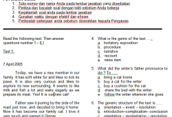 Soal Bahasa Inggris Kelas XI SMA