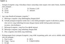 Soal Prediksi Ujian Nasional TKJ SMK 2010