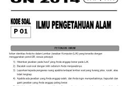 Soal Latihan Ujian Nasional (UN) IPA 2014 untuk SMP/MTs
