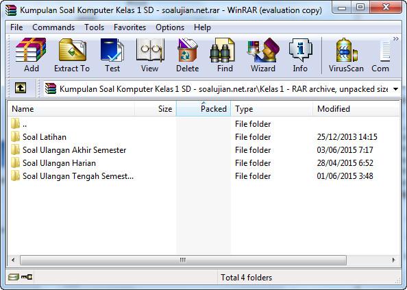 Kumpulan Soal Komputer Kelas 1 SD