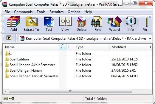 Kumpulan Soal Komputer SD Kelas 4