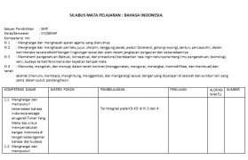 Silabus Bahasa Indonesia SMP Kurikulum 2013