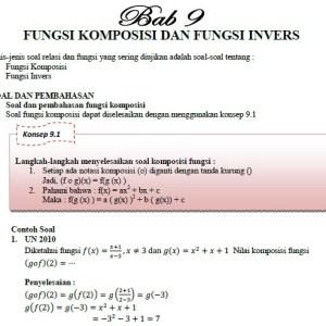 Contoh Soal Fungsi Komposisi dan Invers