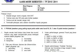 Paket Soal UAS SMP Kelas 7 Semester 1 Lengkap